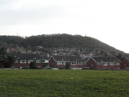 View to the hill from the Centre
